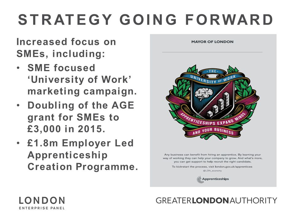 STRATEGY GOING FORWARD Increased focus on SMEs, including: SME focused 'University of Work' marketing campaign.