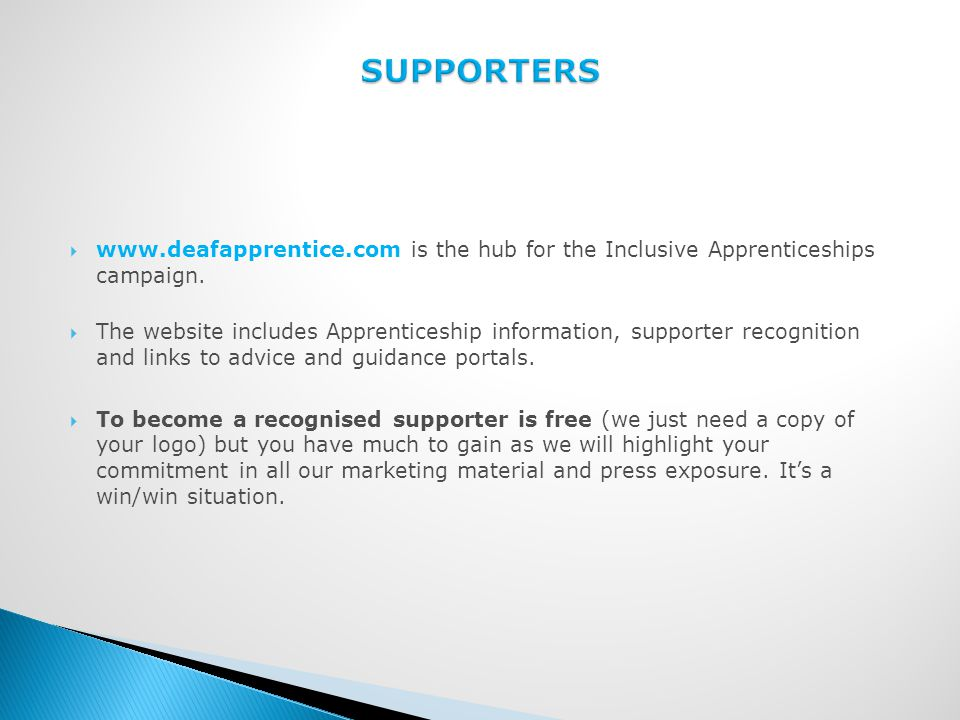  www.deafapprentice.com is the hub for the Inclusive Apprenticeships campaign.