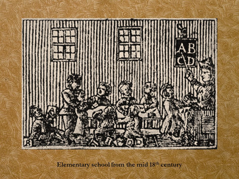 Elementary school from the mid 18 th century