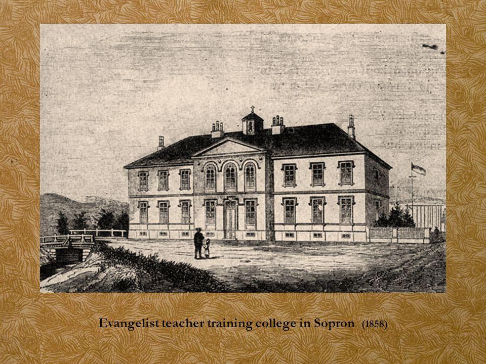 Evangelist teacher training college in Sopron (1858)