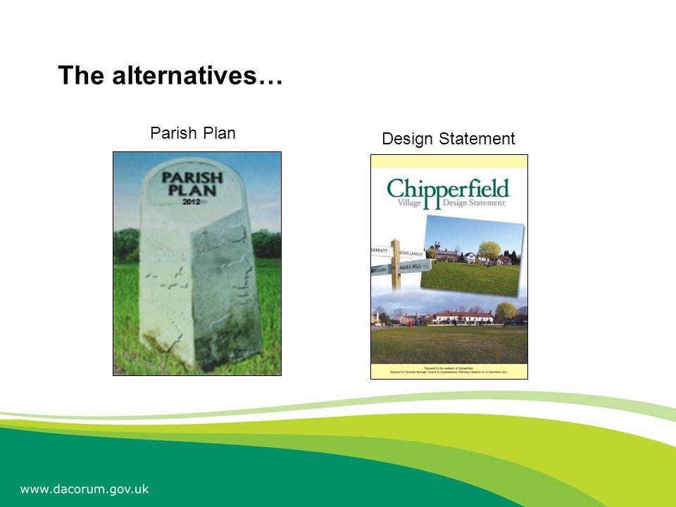The alternatives… Parish Plan Design Statement