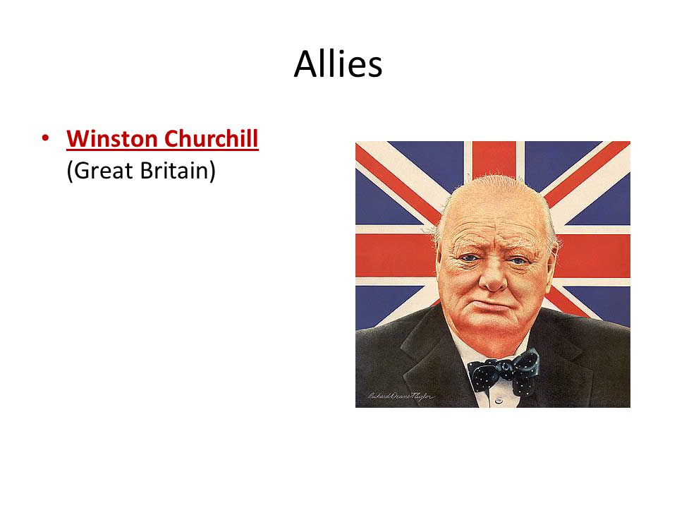 Allies Winston Churchill (Great Britain)