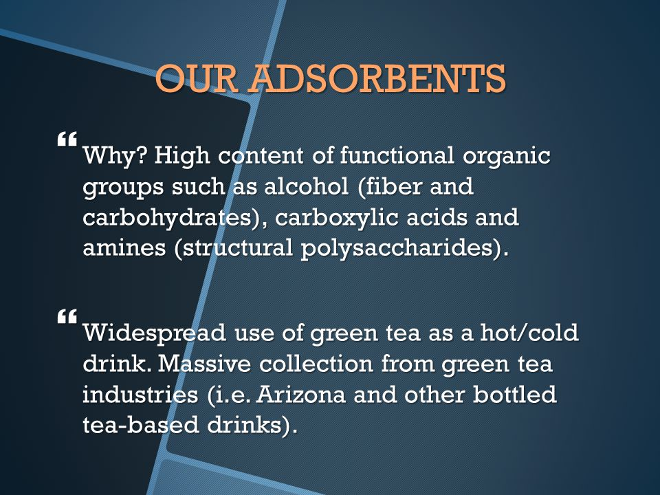 OUR ADSORBENTS  Why.
