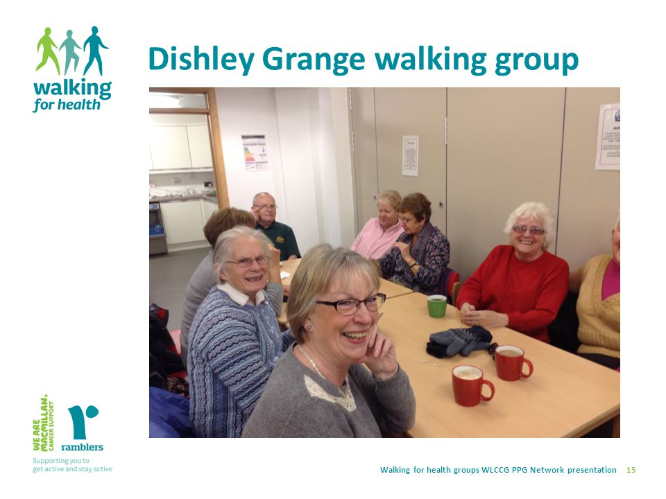 Walking for health groups WLCCG PPG Network presentation Dishley Grange walking group 15