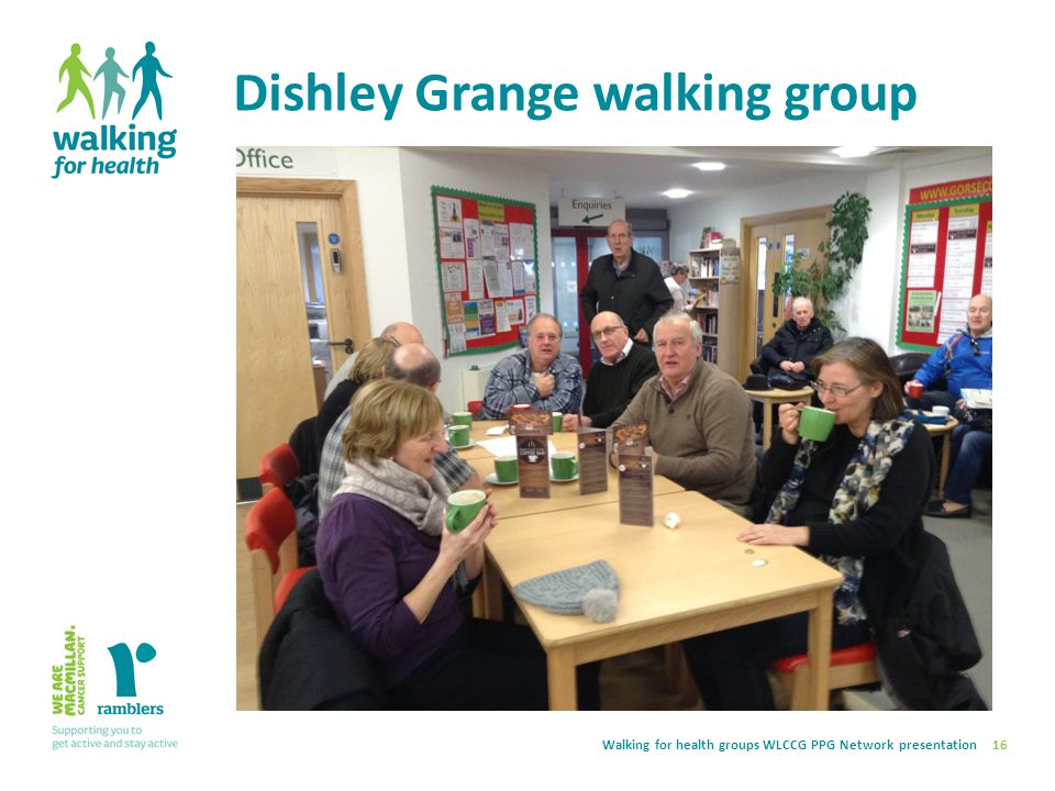 Walking for health groups WLCCG PPG Network presentation Dishley Grange walking group 16