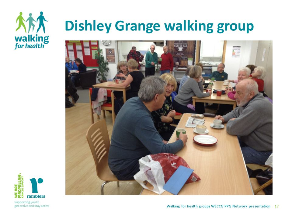Walking for health groups WLCCG PPG Network presentation Dishley Grange walking group 17