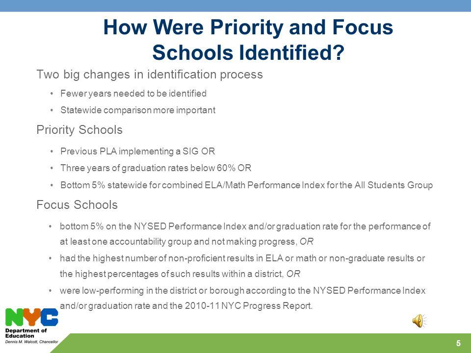 How Were Priority and Focus Schools Identified.