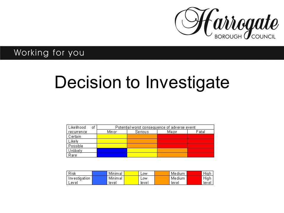Decision to Investigate