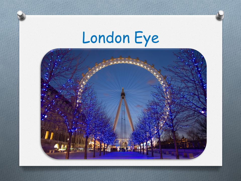 The London Eye is a giant Ferris wheel situated on the banks of the River Thames in London, England.