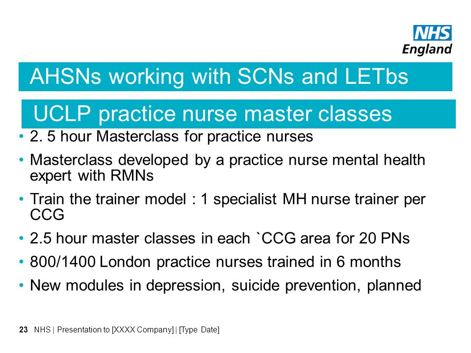 AHSNs working with SCNs and LETbs 2.