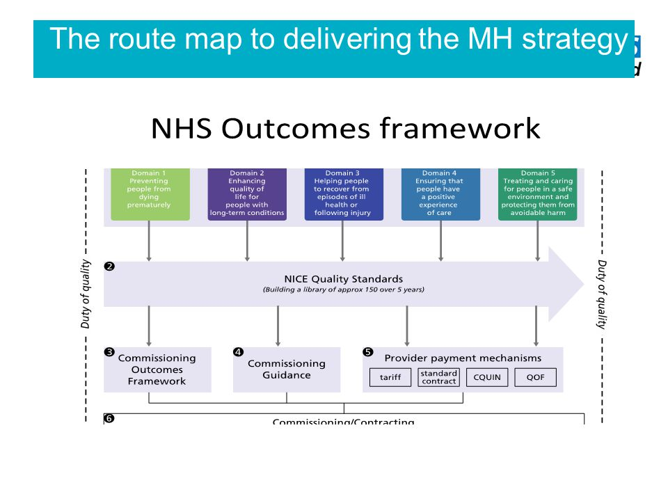 The route map to delivering the MH strategy
