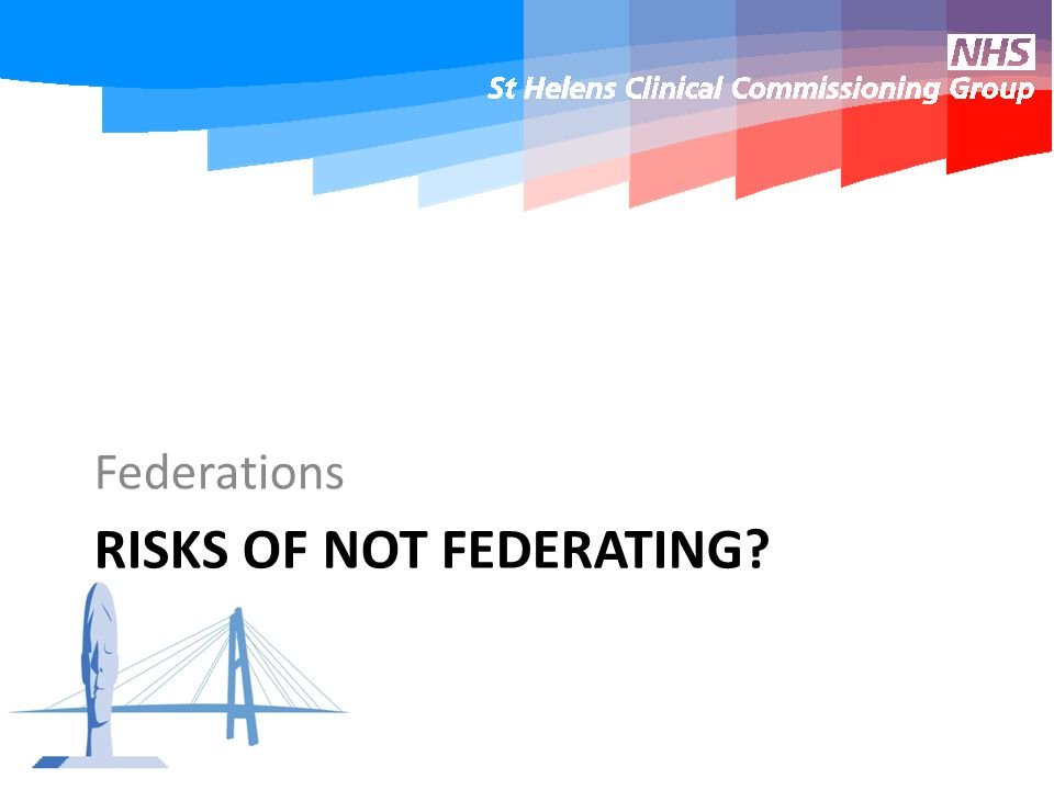 RISKS OF NOT FEDERATING Federations