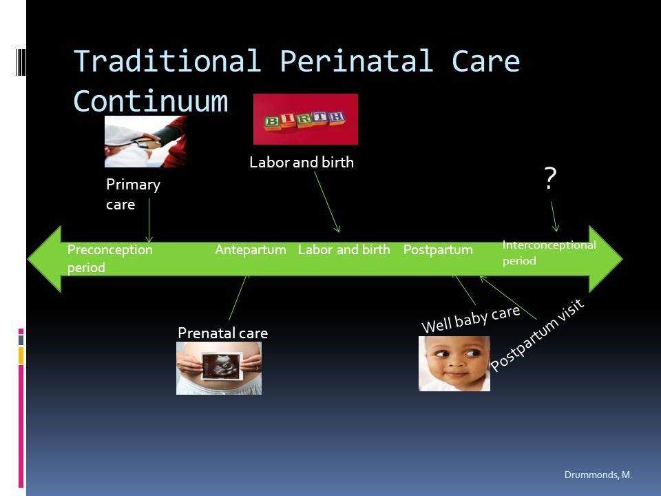 Traditional Perinatal Care Continuum Drummonds, M.
