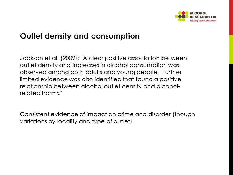 Outlet density and consumption Jackson et al.