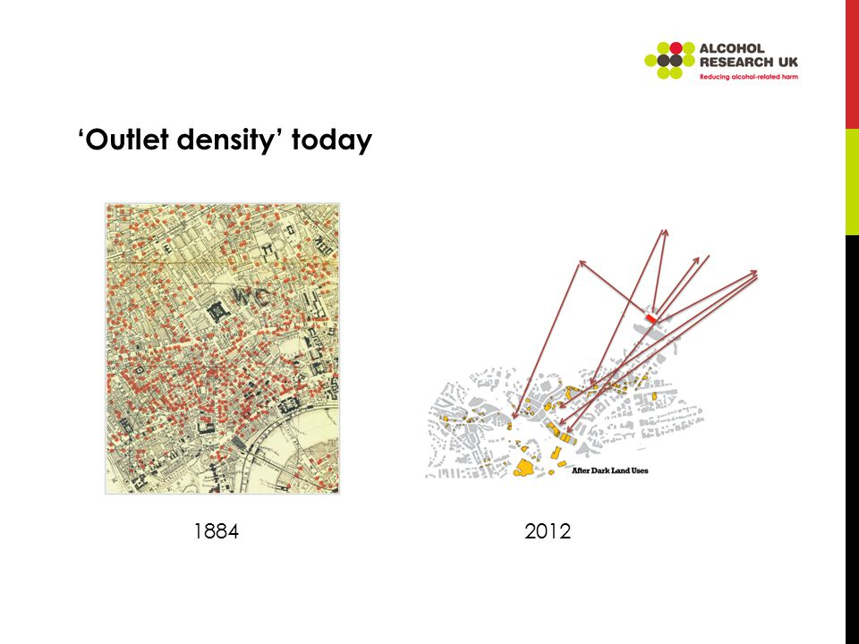'Outlet density' today 18842012