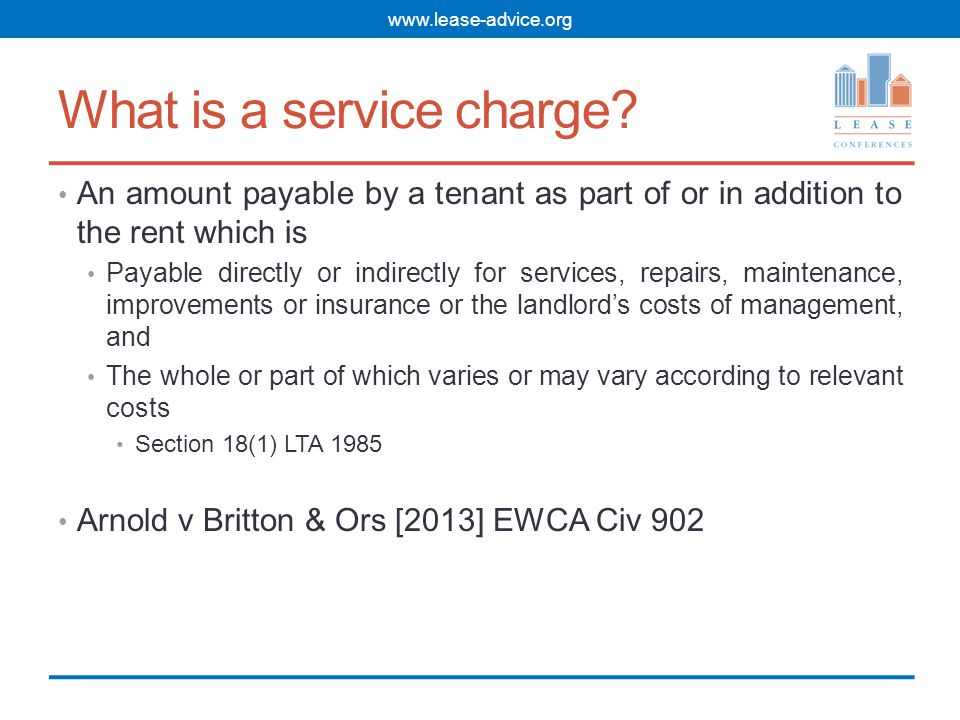What is a service charge.