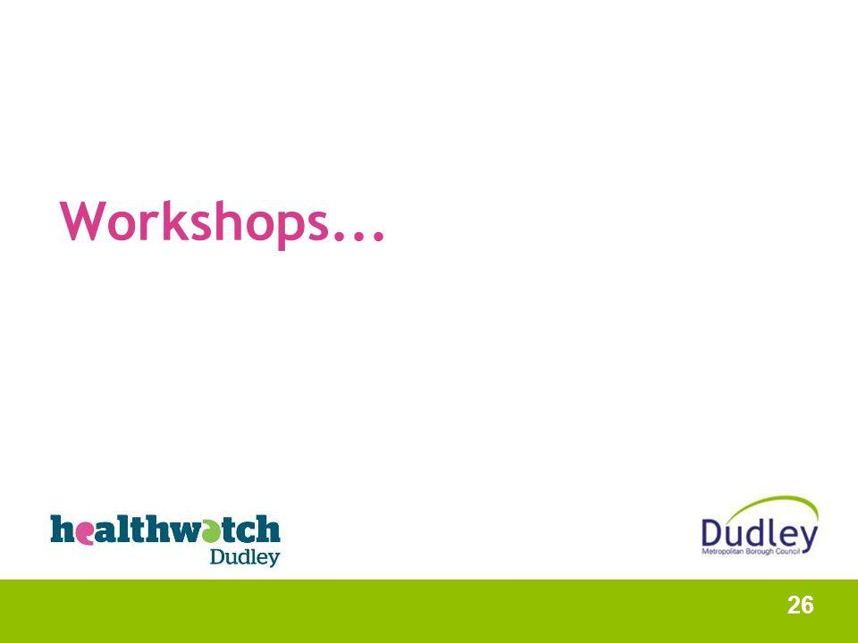 Workshops... 26