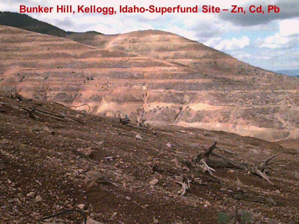 Bunker Hill, Kellogg, Idaho-Superfund Site – Zn, Cd, Pb