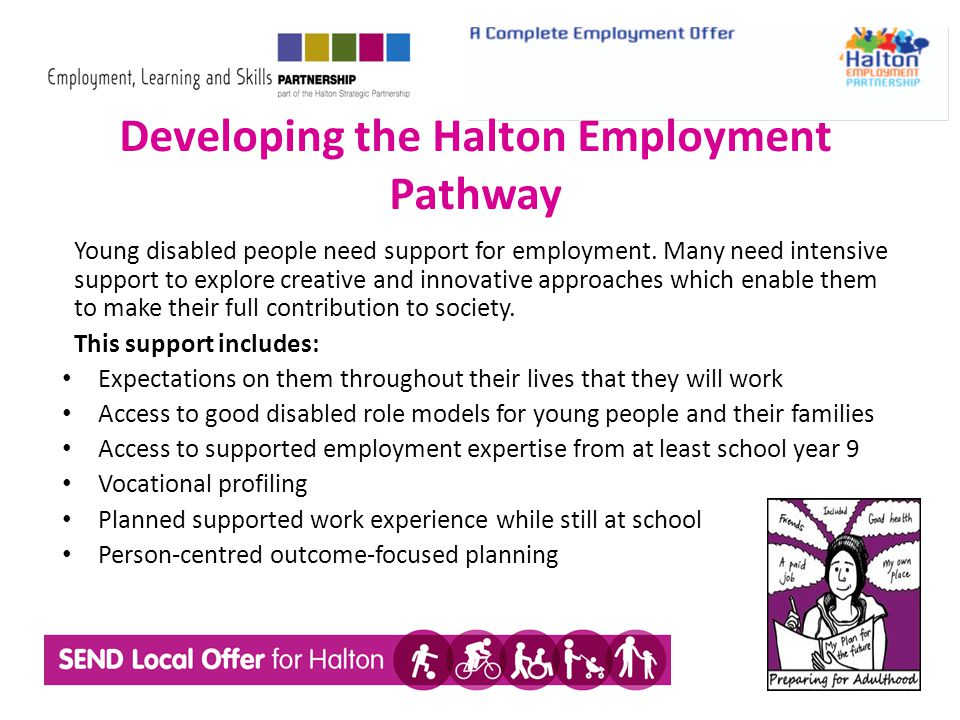 Young disabled people need support for employment.