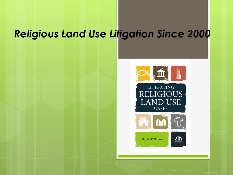 Equal Terms Clause Prohibits government from imposing or implementing a land use regulation in a manner that treats a religious assembly or institution on less than equal terms with a nonreligious assembly or institution 42 U.S.C.A.