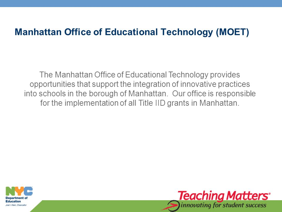 Partnering with Our Digital Natives (PDN) Grant Team Manhattan Office of Instructional Technology Lisa Nielsen Borough Instructional Technology Director – Manhattan lnielsen@schools.nyc.gov Lisa Nielsen is a permanently certified educational administrator and teacher.