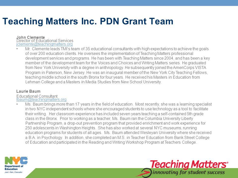 Teaching Matters Inc.