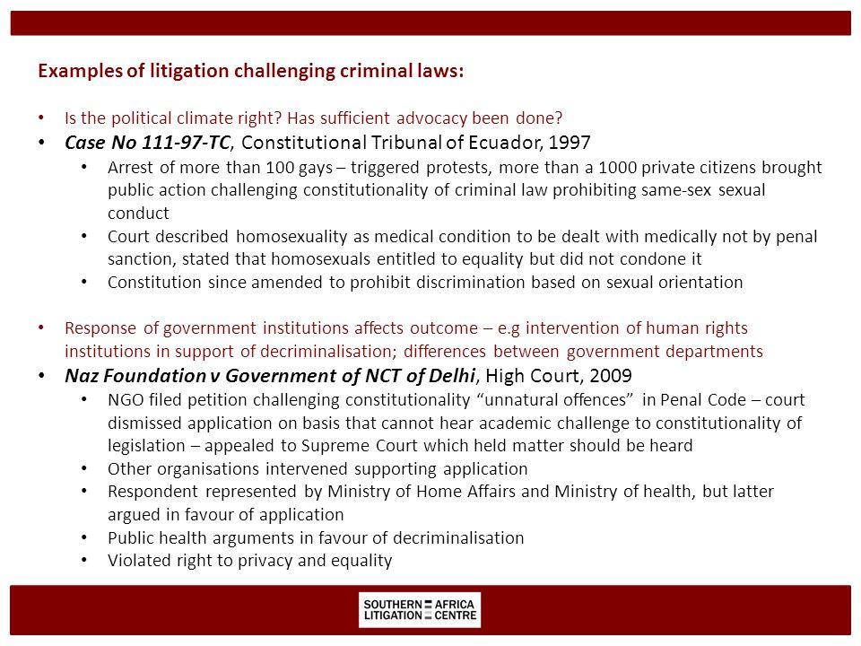Prohibited grounds of discrimination in national legislation Employment legislation prohibits discrimination based on sexual orientation – e.g.