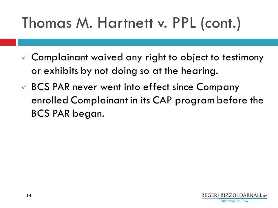 Thomas M. Hartnett v.