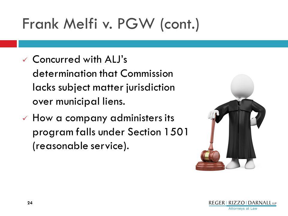 Frank Melfi v.
