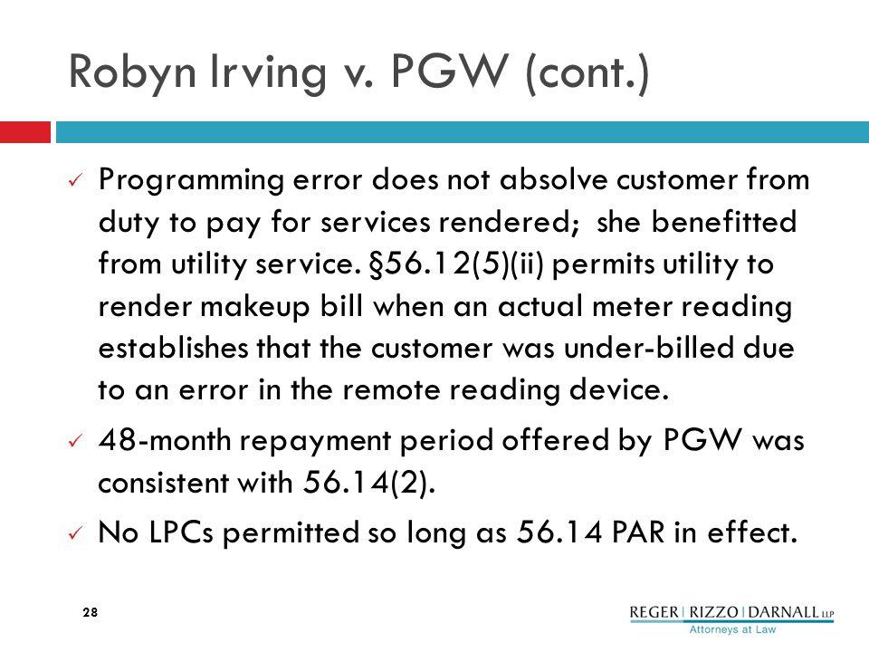 Robyn Irving v.