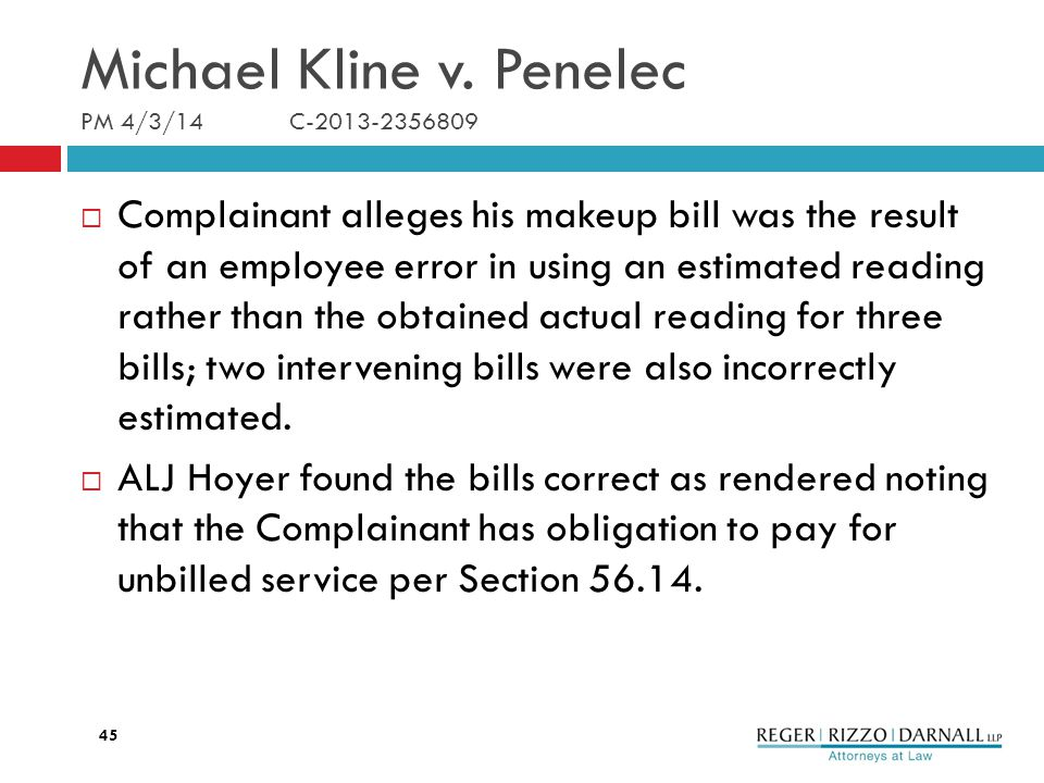 Michael Kline v.