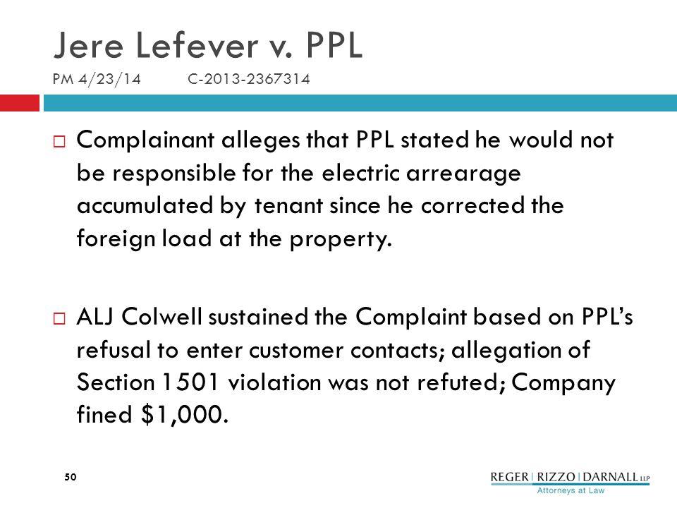 Jere Lefever v.