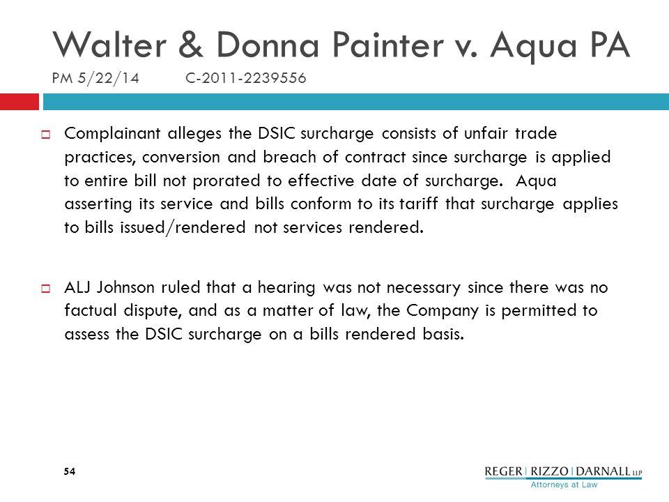 Walter & Donna Painter v.