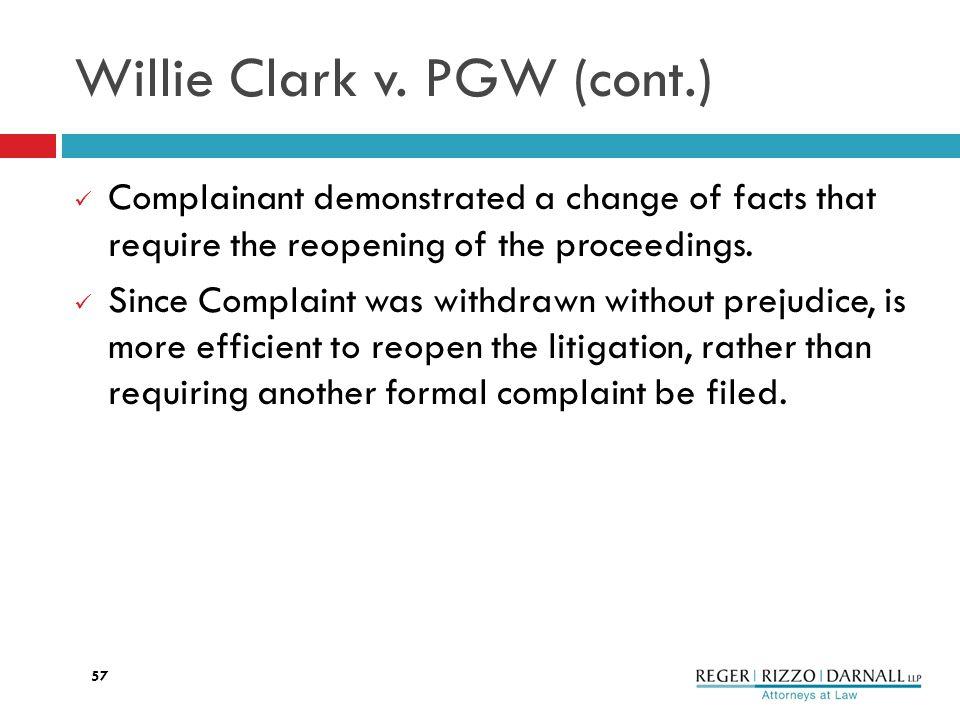 Willie Clark v.