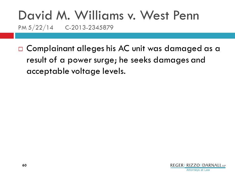 David M. Williams v.