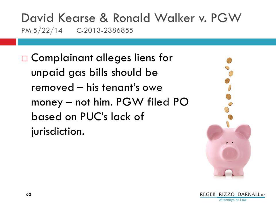 David Kearse & Ronald Walker v.