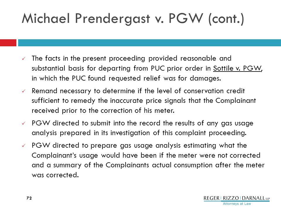 Michael Prendergast v.