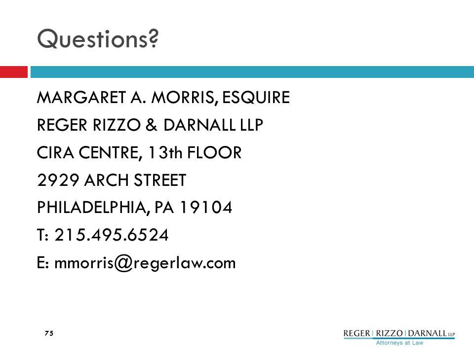 Questions. MARGARET A.