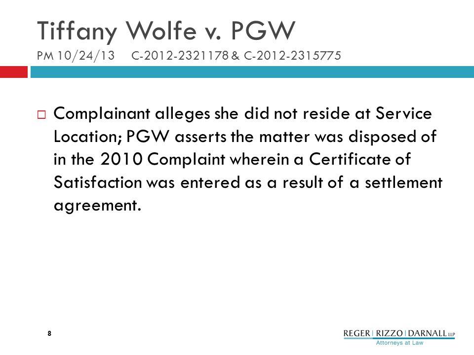 Tiffany Wolfe v.