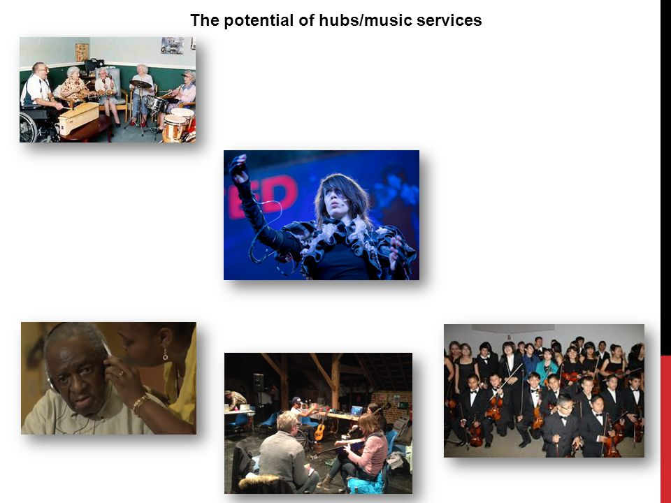 The potential of hubs/music services