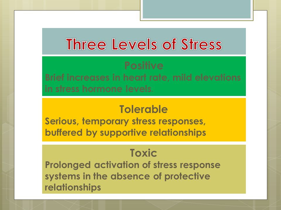 Positive Brief increases in heart rate, mild elevations in stress hormone levels.