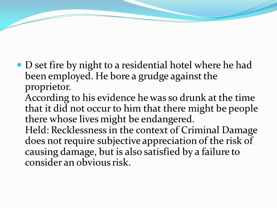 D set fire by night to a residential hotel where he had been employed.