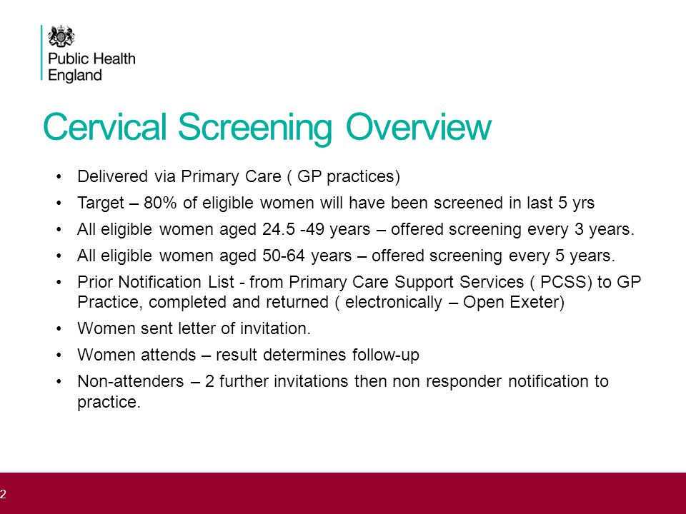Developments in CS Programme 14 Day Turn-around Zero Tolerance HPV Triage HPV Test of Cure HPV Vaccination Future HPV only testing Direct referral to Colposcopy ABC reporting terminology Vault Samples Pathway for Symptomatic Women < 25yrs Equity of Access Never Screened Project Social Media Campaign Standardised Training for all 3