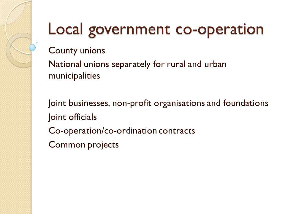 Local government incomes