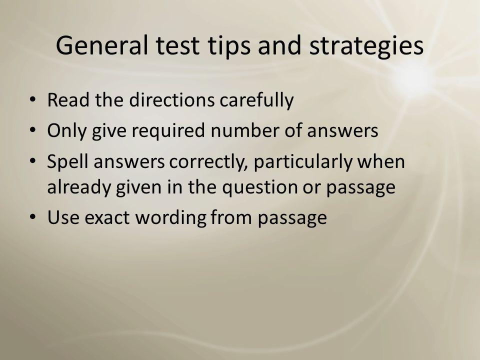 No Secret Recipes Good English + good test-taking skills = success No secret recipes Hard work