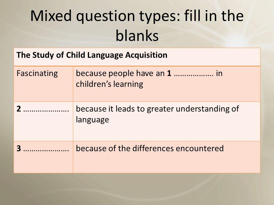 Question types: labeling a diagram