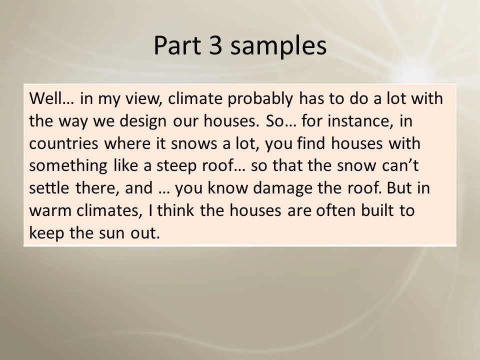 Part 3 samples How important is it to enjoy your work.