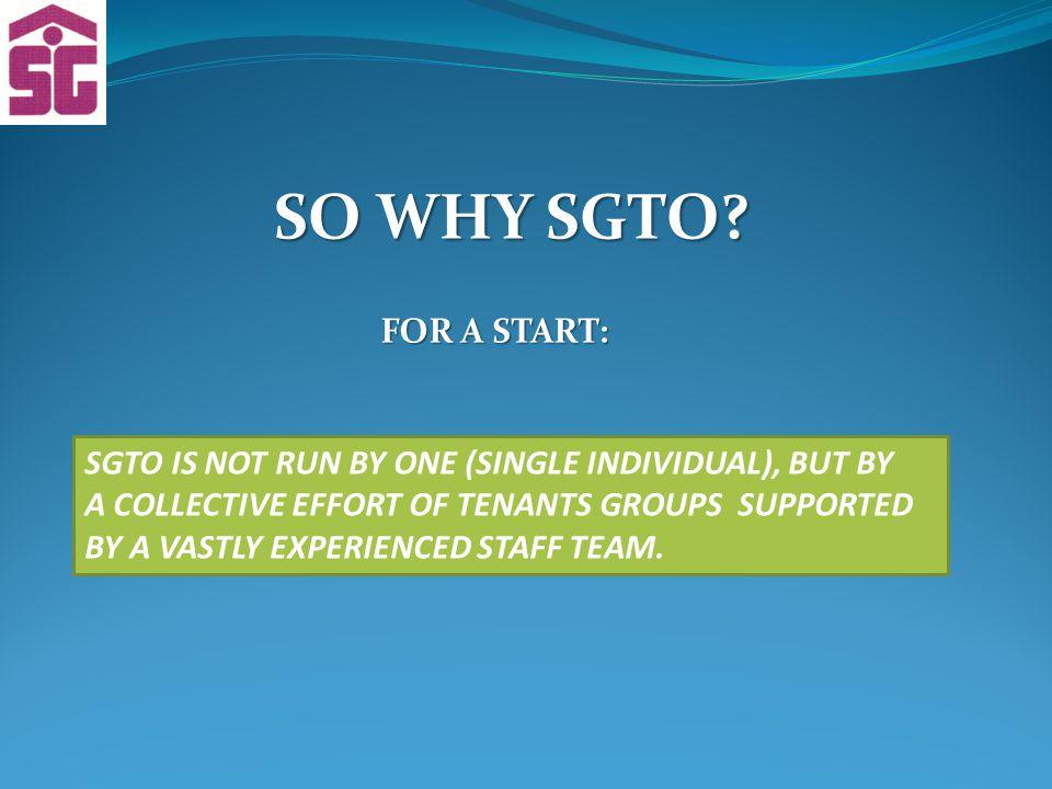 SO WHY SGTO.