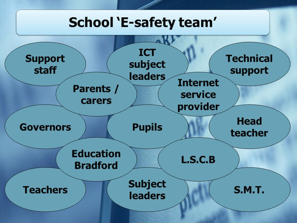 School 'E-safety team' S.M.T.