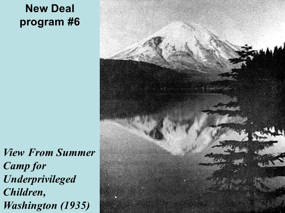 View From Summer Camp for Underprivileged Children, Washington (1935) New Deal program #6